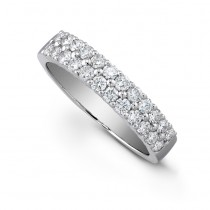 14kt Two-Row Diamond Wedding Ring