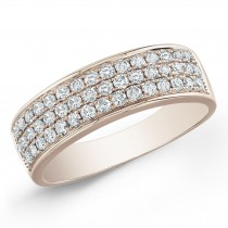 14k Rose Gold Classic Pave Band