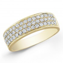 14Kt Yellow Gold Diamond Wedding Ring-Pave