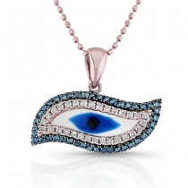 Rose Gold Srirl Evil eye Necklace