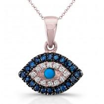 Rose Gold Tiny Evil Eye Necklace