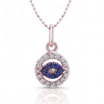 Rose Gold Evil Eye Baby Jewelry