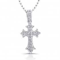 Small Diamond Pave Cross Pendant 0.05ct