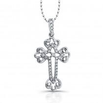 Diamond Cross Pendant : Vintage Cross Design