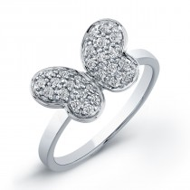 14kt Diamond Pave Butterfly Ring