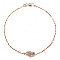 Rose Gold Pave Diamond Hamsa Bracelet