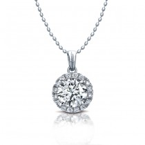 Diamond Halo Necklace With Bale 1/2 CTW