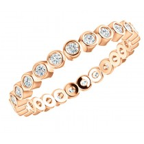 Rose Gold Bezel Eternity Ring