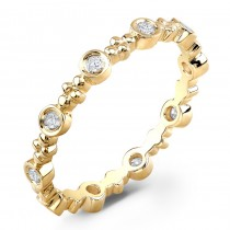 Stackale Yellow Gold Diamond Eternity Band