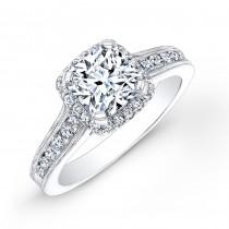 Halo Engagement Ring - Vintage Detail
