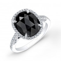 2 carat oval black diamond ring 26222