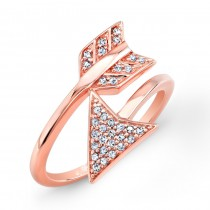 Rose Gold Diamond Arrow Ring
