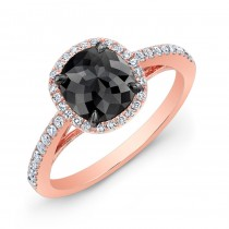 Cushion Black Diamond Ring 28470