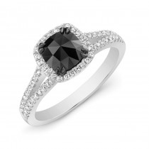 black Cushion Ring 28478