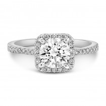 White Gold Halo Engagement Ring 1 CTW
