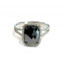 2.19 Cushion Black Diamond Ring 30213