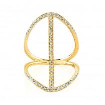 Yellow Gold Diamond Bar Ring