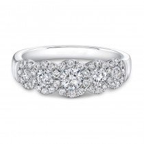 Five Stone Halo Diamond Ring
