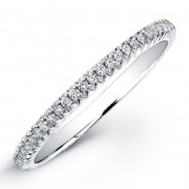 Diamond Wedding Band 14K WG 1/5CTW