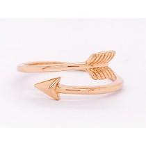 14K RG Arrow Ring