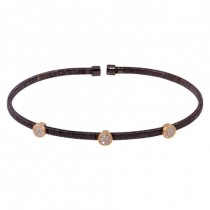 Black/rose plated bangle