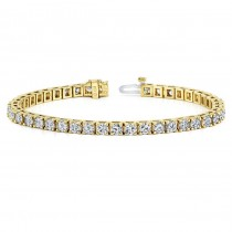 Diamond Eternity Bracelet in 14k Yellow Gold (5 ct. tw.)
