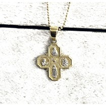 14K Yellow Gold Station Of The Cross