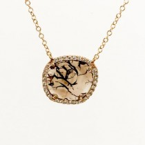 Brown Diamond slice necklace