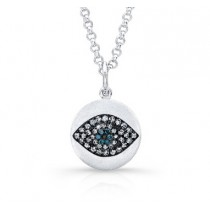 Blue Diamond Diamond Evil Eye Pendant