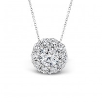 3/8ctw DIAMOND HALO PENDANT
