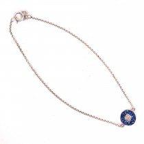 Evil Eye Sapphire Bracelet
