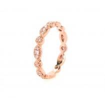14k rose gold diamond vintage-inspired eternity ring