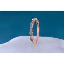 14k Rose Gold Aquamarine Band