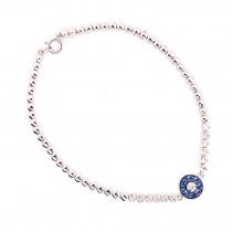 Sapphire Evil Eye Diamond Bezel Bracelet