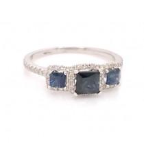 Three Stone Sapphire Ring