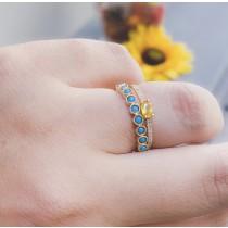 14k YG Yellow Saphire Ring