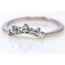 Marquise curved band