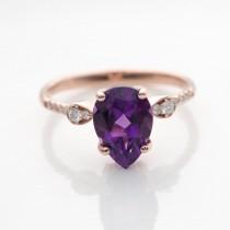!4k vintage amethyst ring