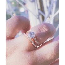 14K Rose Gold Engagement Ring