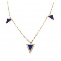 Lapis Diamond Necklace