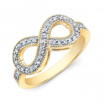 Yellow Gold Diamond Infinity Ring
