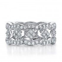 14k White Gold Pave Eternity Diamond Band