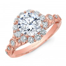 Natalie k halo Vintage engagement ring