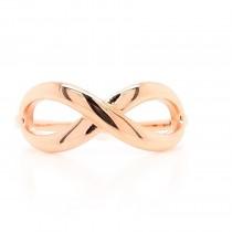 14K rose gold infinity ring