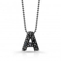 Black Diamond Initial Pendant A
