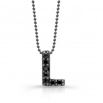 Black Diamond Initial Pendant L