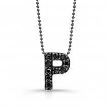 Black Diamond Initial Pendant P
