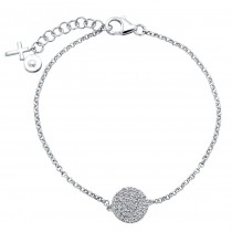 Diamond Disk Bracelet