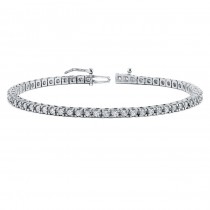 Diamond Eternity Bracelet in 14k White Gold (3 ct. tw.)