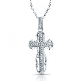 Sterling Silver Antique Pave Cross Pendant